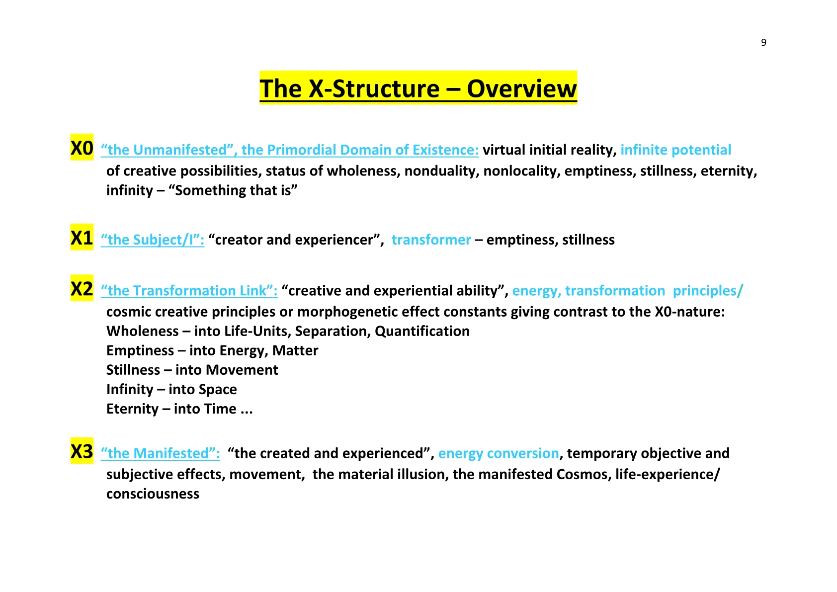 TSC 2014 9 The X-Structure-Overview - NCP X-AIONS