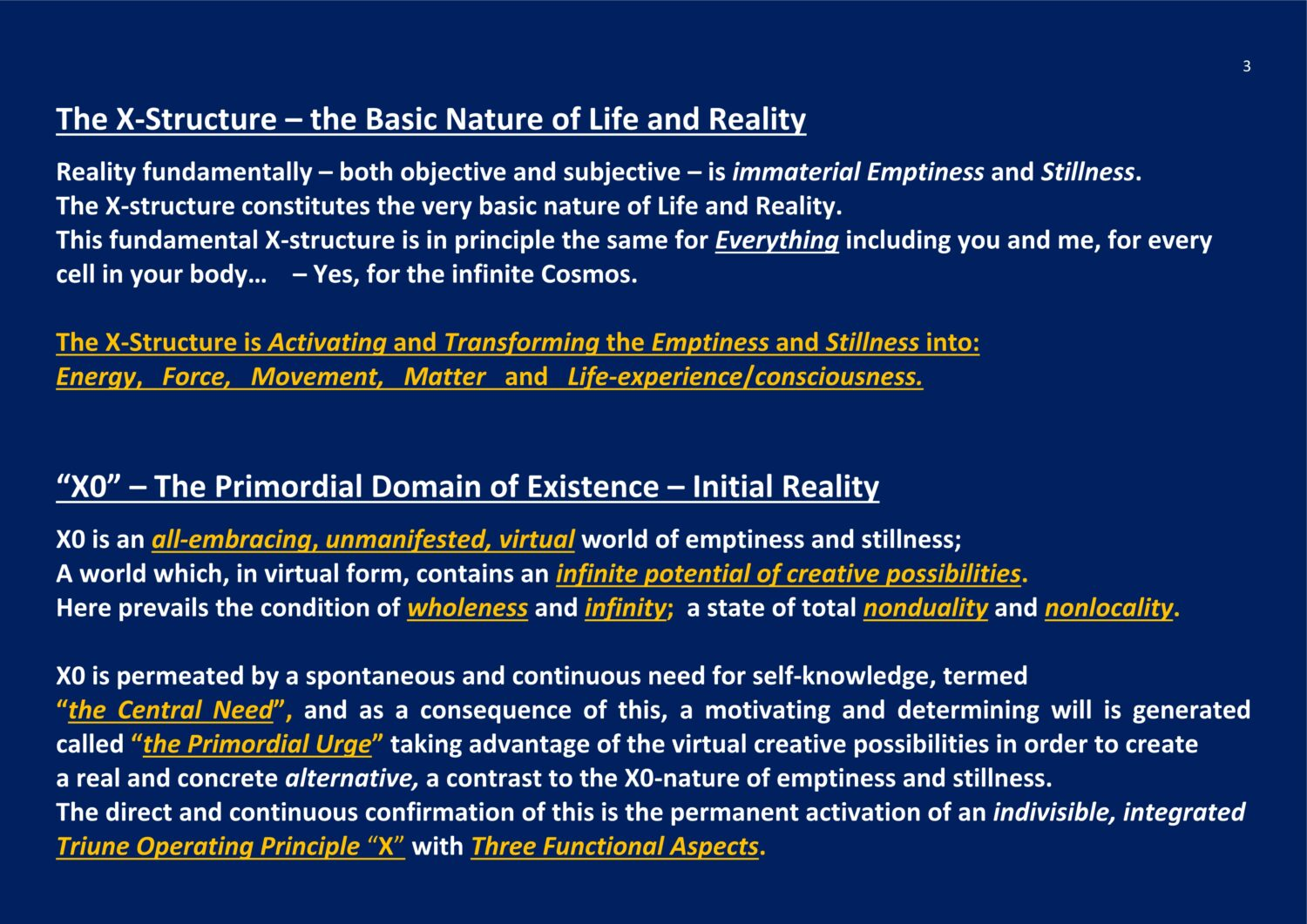 The X-Structure - Basic Nature of Life and Reality NCP X-AIONS NCP X-AIONS