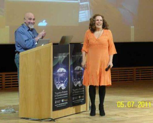 Stuart Hameroff and Annika Dopping TSC 2011 NCP X-AIONS