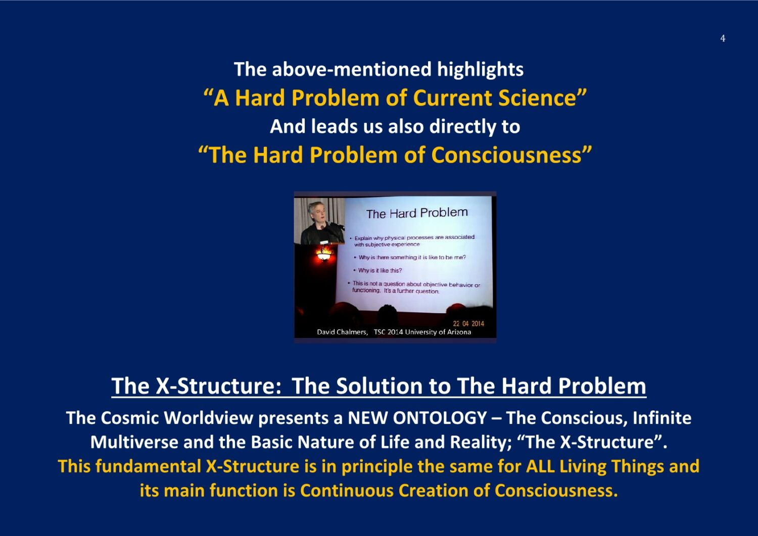 TSolution to the Hard Problem of Consciousness NCP X-AIONS TSC 2016