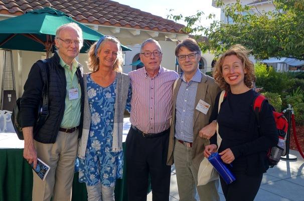Arnold Therner, ------, Lothar Schäfer, Steen Loeth, Karla Galdames- 2014 San José
