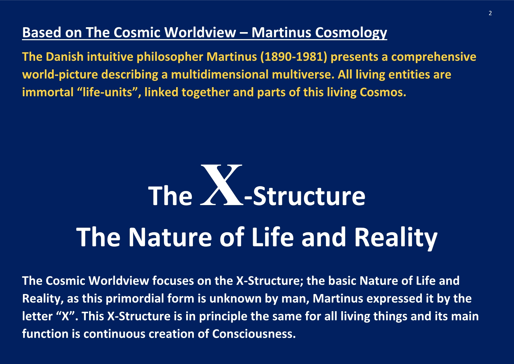 Cosmic Worldview Martinus Cosmology; NCP X-AIONS