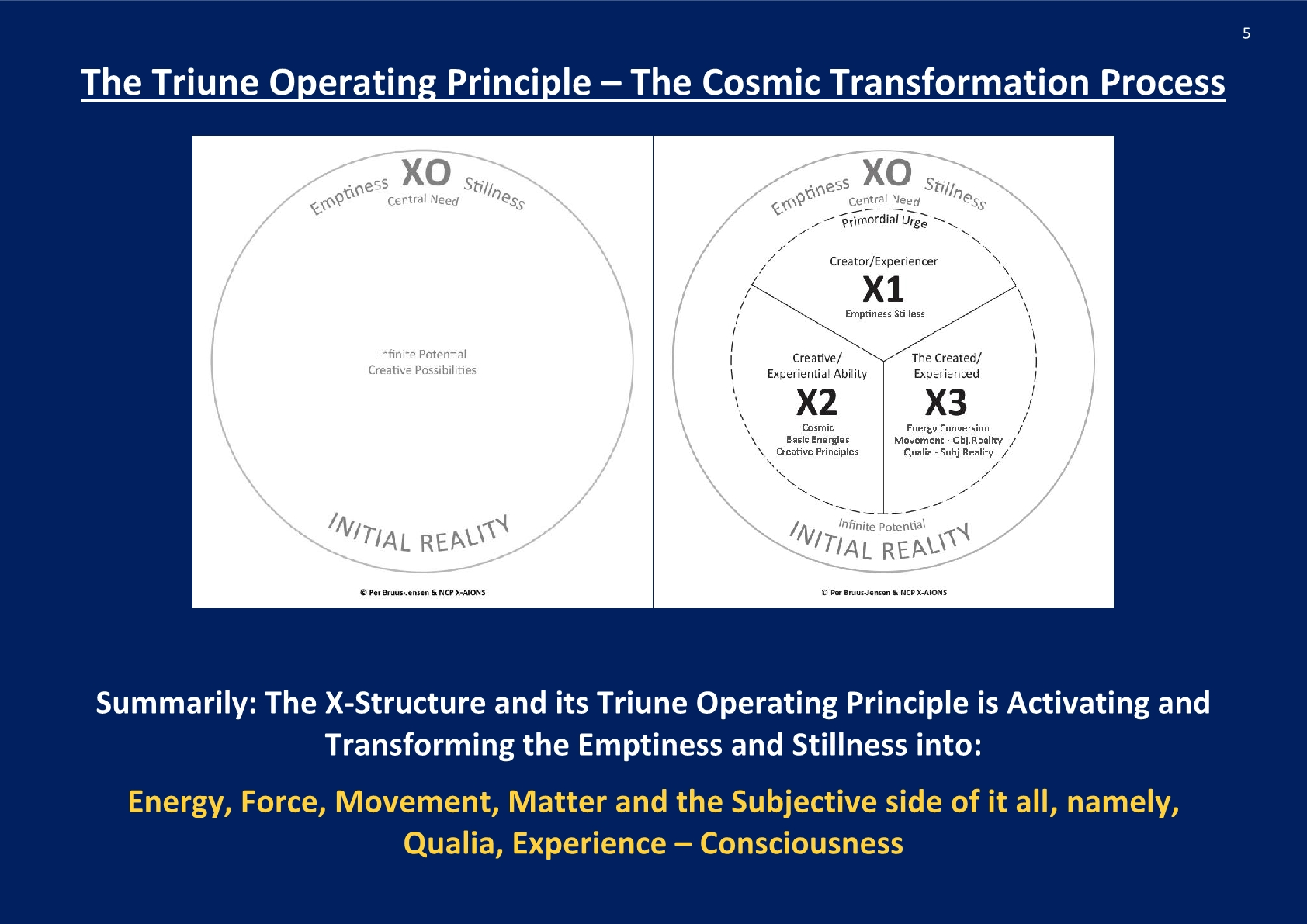 The Triune Operating Principle; NCP X-AIONS