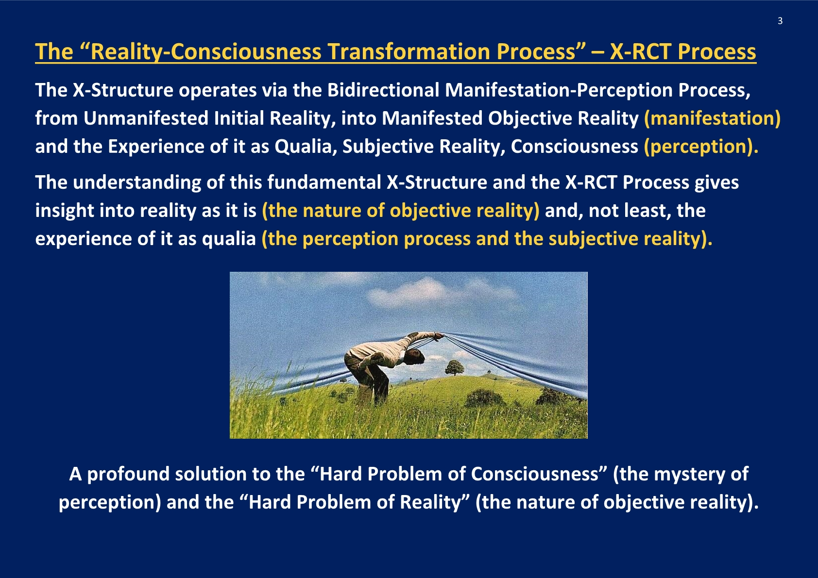 Reality-Consciousness Transformation Process , X-RCT process; NCP X-AIONS