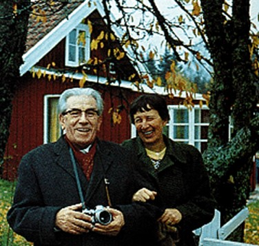 Martinus and Sigbritt Therner, Kosmos Center, Varnhem 1964