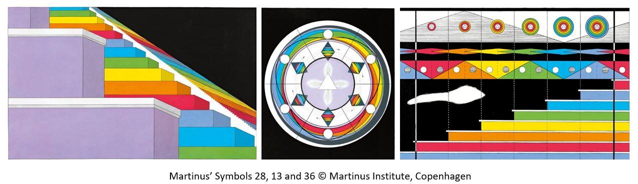 Martinus' Symbols no 28, 13, 36 © Martinus Institut, DK